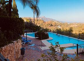 Holiday rental swimming pool Los Almendros Marbella-Benahavis