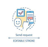 send-request-concept-icon-submitting-260