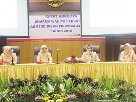 Dharma Wanita Persatuan Dinas Pendidikan Jatim Gelar Rapat di Ruang Sabha Nugraha