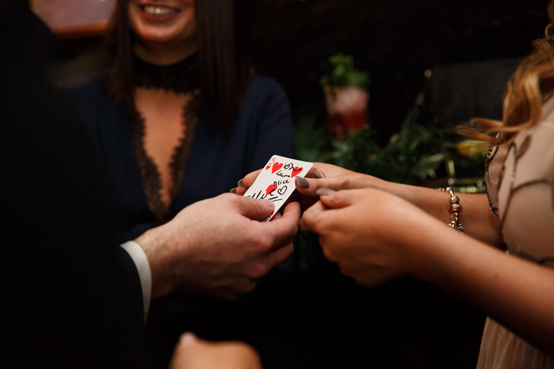 Close up Magician Card Trick