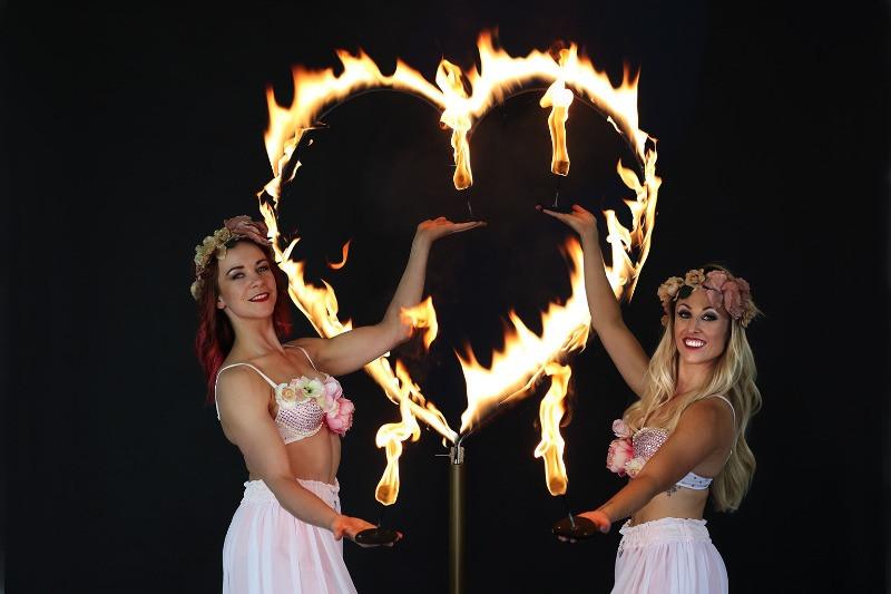 Fire heart prop