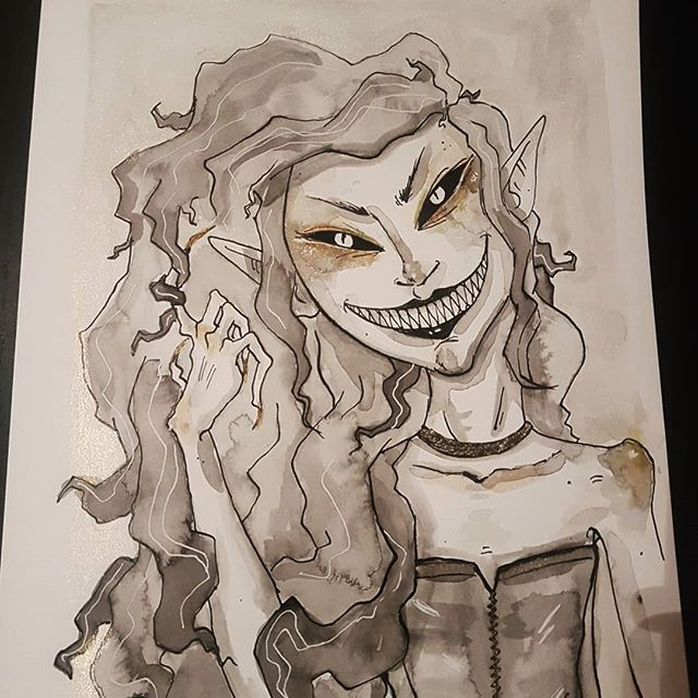Diana__#ink #watercolour  #vampire #mons