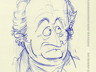 Goethe with a ballpoint pen