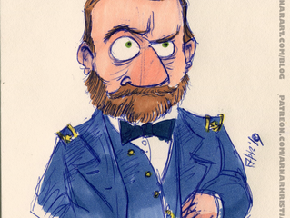 Speed drawing: Ulysses S. Grant