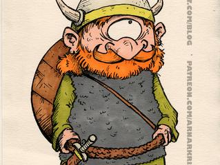 Random character doodle: Viking cyclops, or Viklops.