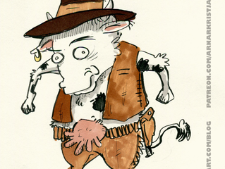 Random character doodle: Cowboy/Boycow