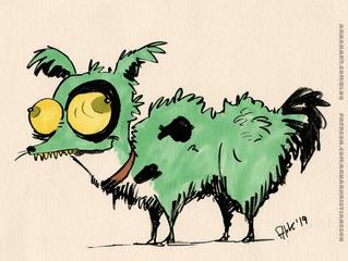 Random character doodle: Dog