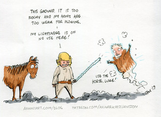Speed drawing: Agriculture in a galaxy far far away.