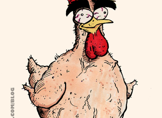 A shaved, fat, throbbing cock