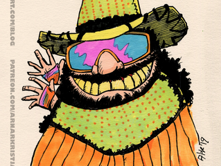 Caricature: Macho Man Randy Savage