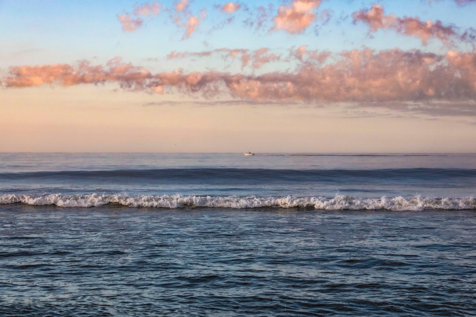 Fishing Boat in a Pastel Sky