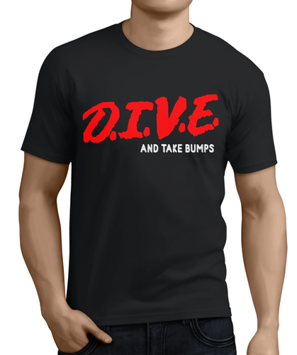 ca81a667b D.I.V.E into pro wrestlin gear, just say no to drugs parody shirt.  wrestling controversy, randy