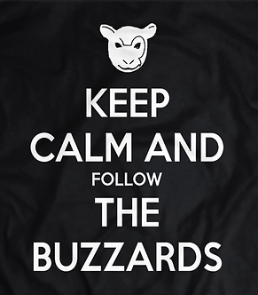 Keep calm and follow the Buzzards,The Wyatt Family aka Bray Wyatt, Luke Harper Erick Rowan, randy orton,pro wrestling tshirts