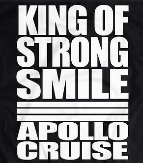 Shinsuke Nakamura, King of strong style parody, apollo cruise, king of strong smile,wwe raw and wrestling t shirt