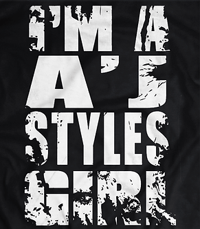 AJ Syles,FEMALE DISTRESSED TEE,PRO WRESTLING SHIRT,HARDCORE STYLE,BEST IN THE WORLD,BULLET CLUB