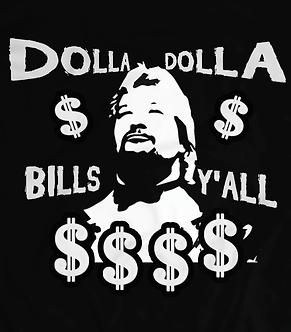 Dollar Dollar Bills Y'all,Million dollar t-shirt,Heel shirts,Virgil, vintage wwf, wwe, wcw,pro wrestling t-shirt uk,