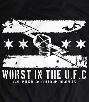 CM Punk, best in the world, worst in the ufc, funny parody,ultimate fighting championship,wwe, heel shirts,pro wrestling tees