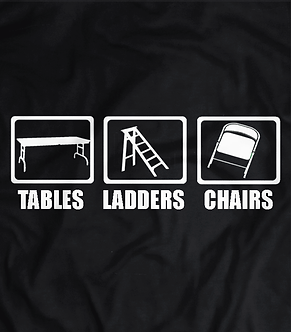 Tables Ladders and Chairs T-shirt ,wwe pay per view, wrestling heel shirts,pro wrestling tees