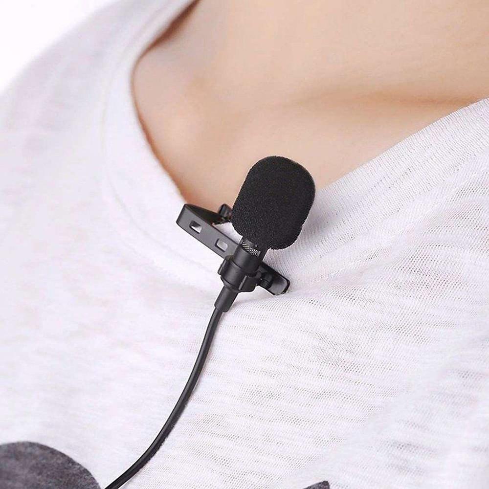 Mikrofon krawatowy lavalier do podcastu, video, webinaru.