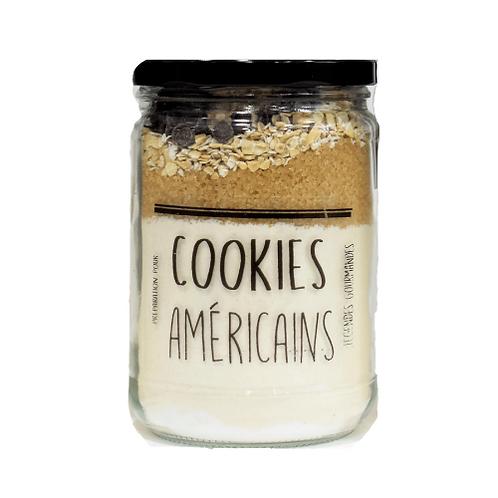 Cookie Américain aux éclats de chocolat noir et flocons d'avoine