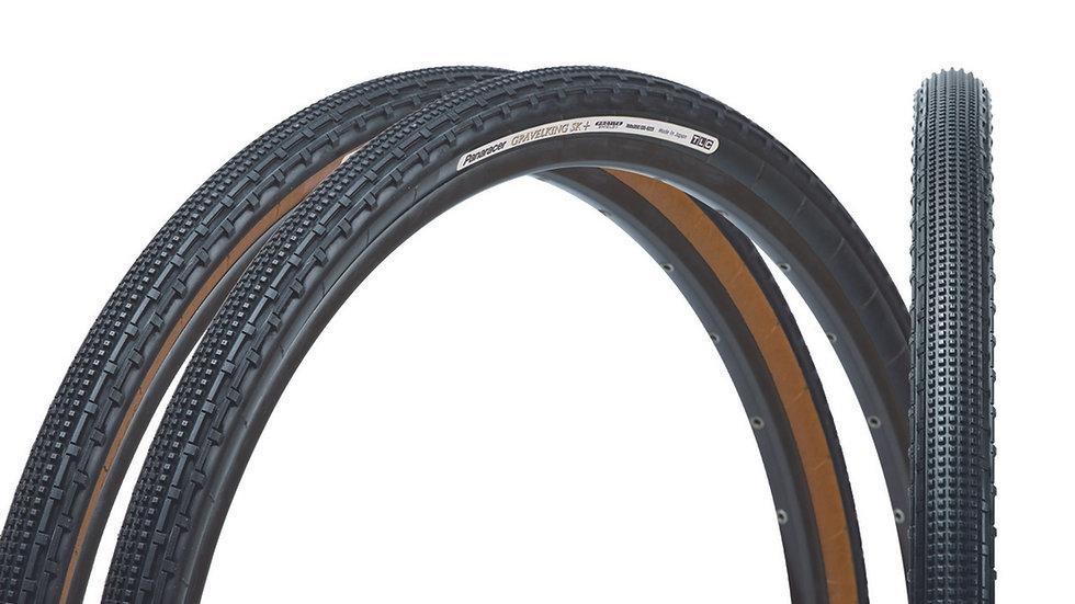 """Покрышка 28""""/700 Panaracer GravelKing SK+ Plus для гравийного велосипеда"""