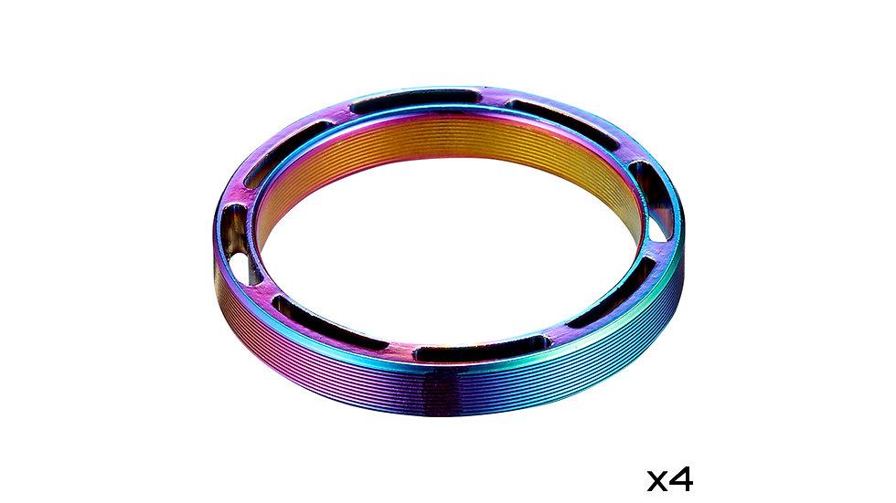 Кольца под вынос руля Supacaz Hollow SupaSpacer 5mm 4шт.  1 1/8″ OilSlick