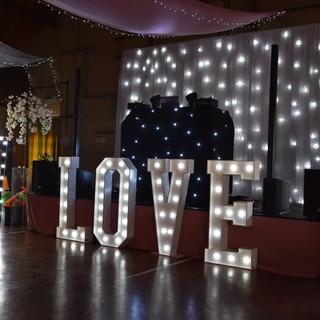 Luxury white LED backdrop