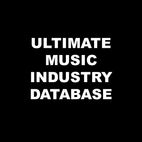 Ultimate Music Industry Database