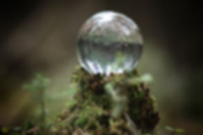 Crystal ball. Magical accessory in the w