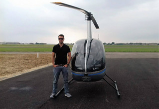Well done to Tom for passing his R22 type rating test - on to the next challenge!