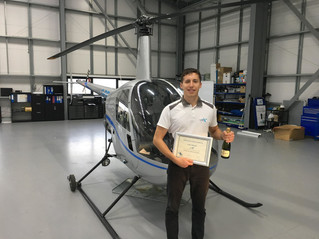 Huge congratulations to apprentice Alex for passing his PPL from Solent Airport