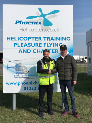 Congratulations to George for completing his R44 Type Rating!