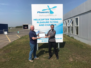 Congratulations to Simon for passing his PPL at Blackbushe Airport