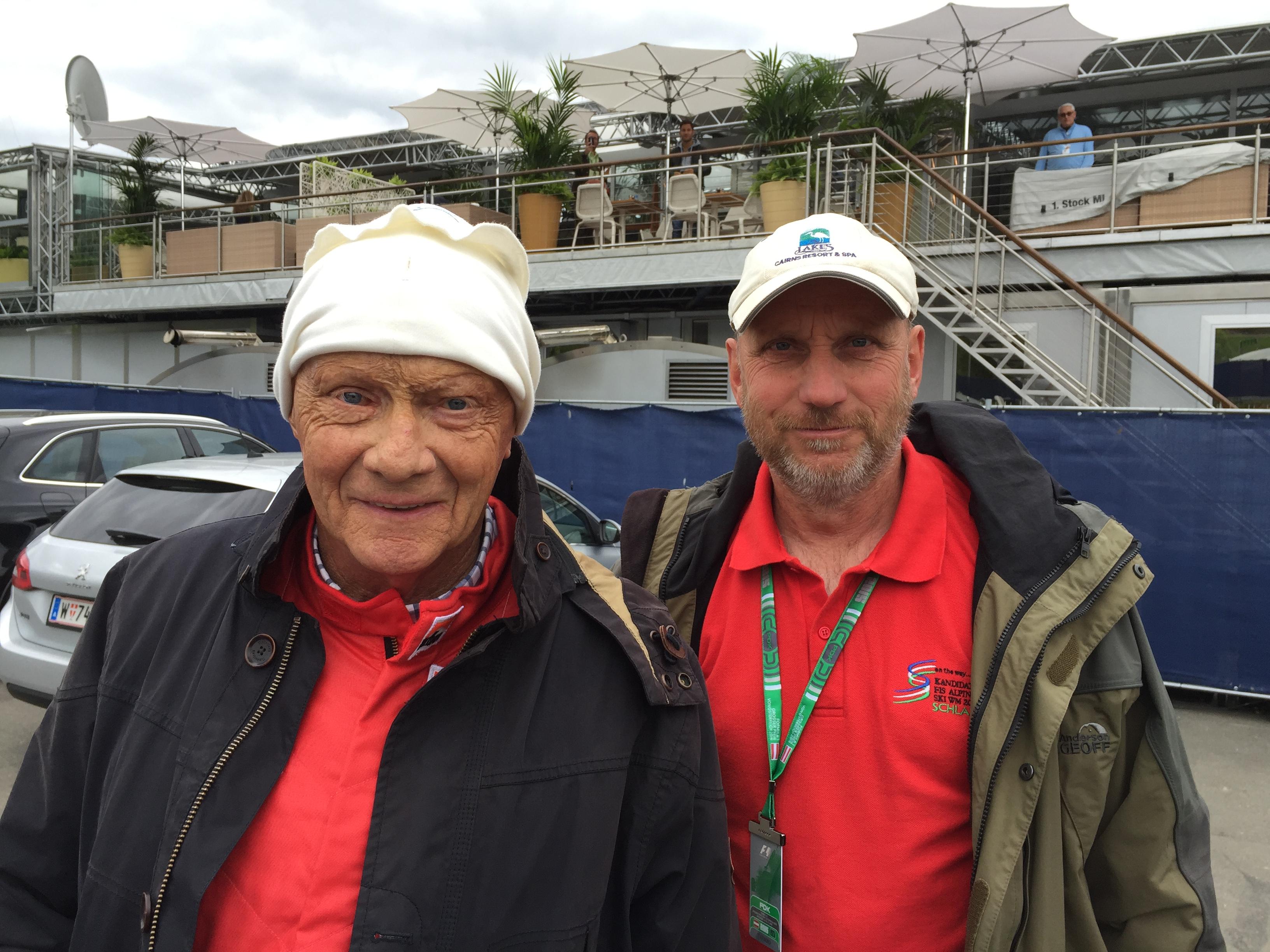 Mit Legende Niki Lauda †