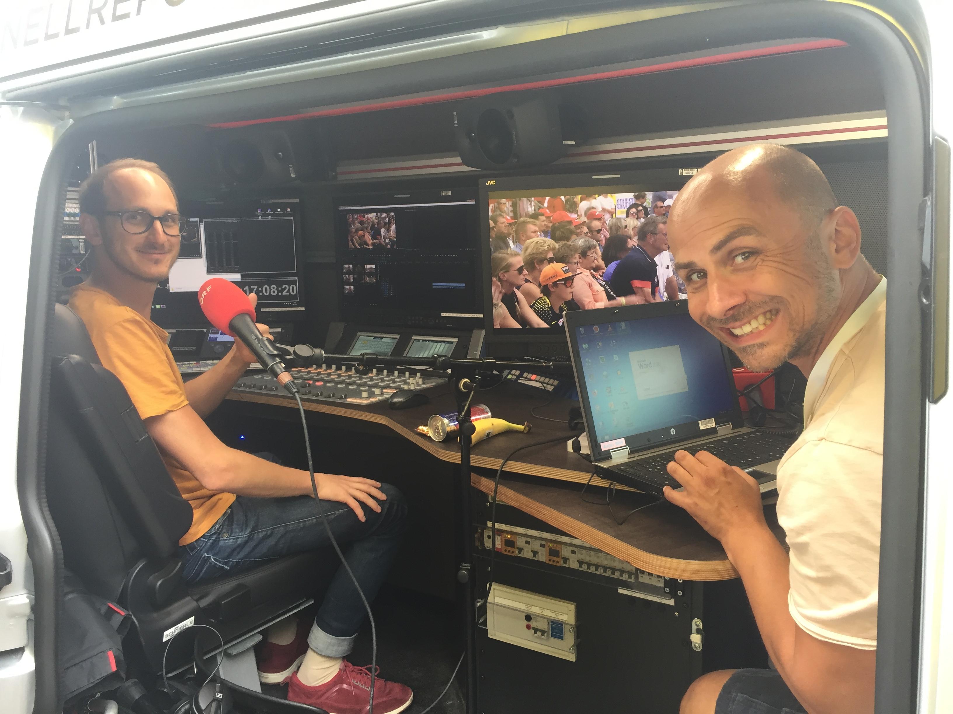 Schnittbus ORF: Thomas und Christian