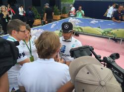 Formel 1 Spielberg: Lewis Hamilton Presse