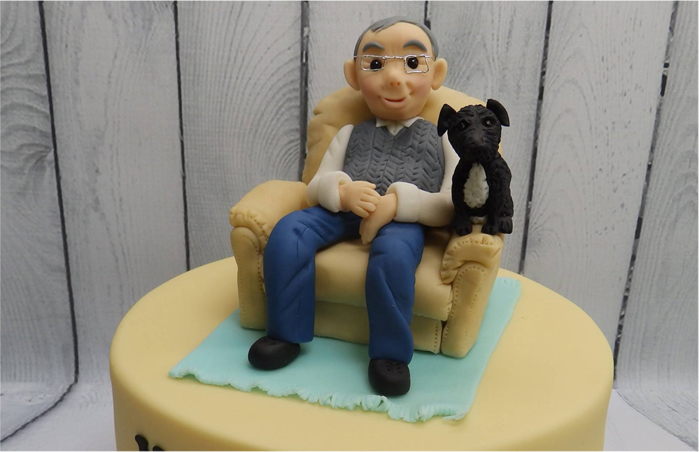 One Man & his Dog Retirement Cake
