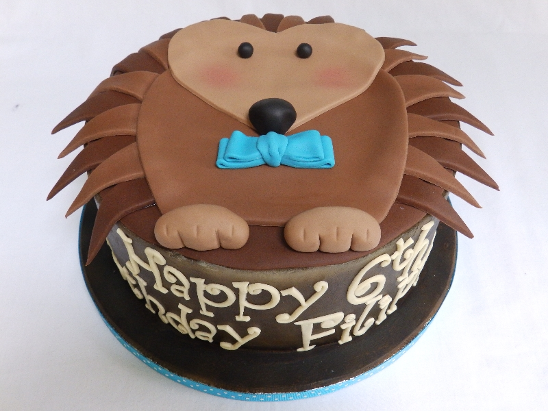 Personalised Hedgehog Cake