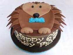 Personalised Hedgehog Cake