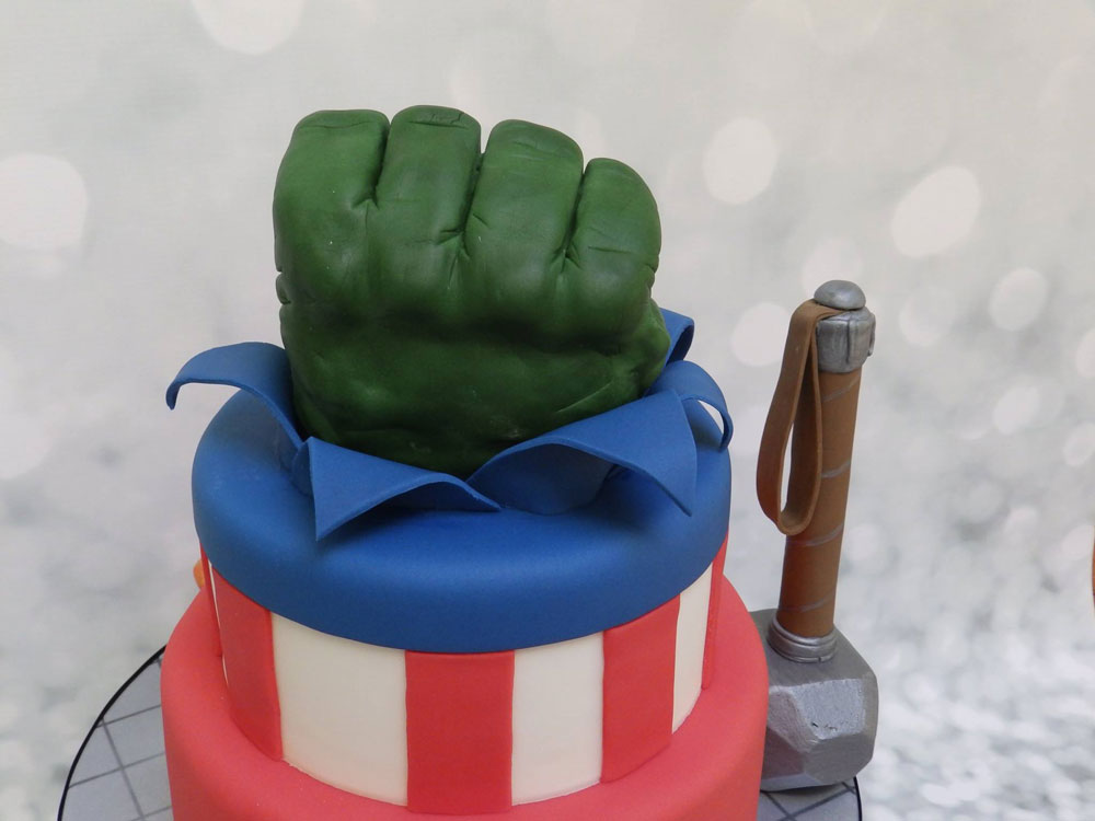 Unique Superhero Birthday Cake