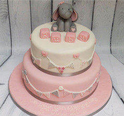 Christening Cake for a Girl