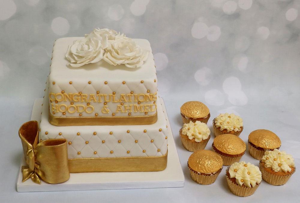 Congratulations Cake & Cupcakes