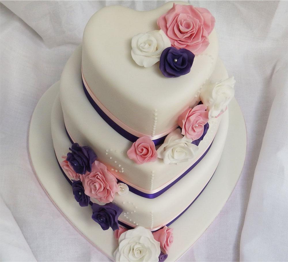 Wedding Cake in Heart Shape