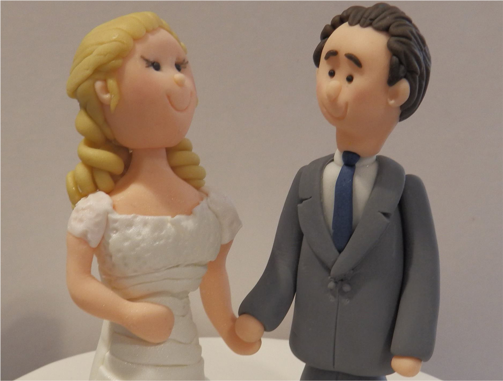 Bristol Wedding Couple Cake Toppers