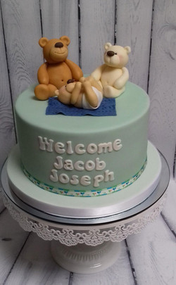 Welcome New Baby Cake