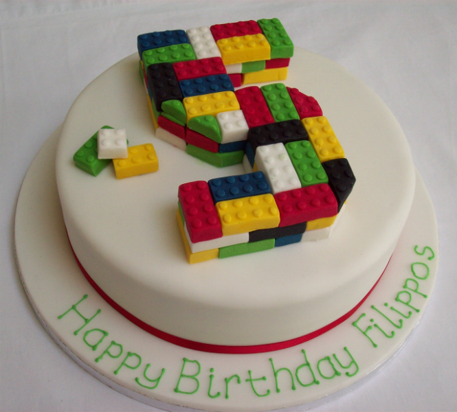 Edible Lego Birthday Cake