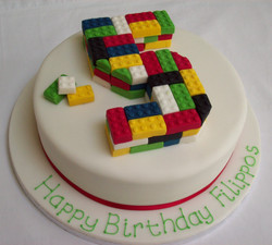 Edible Lego Birthday Cake