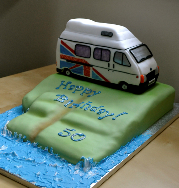 Cake Replica of his Van