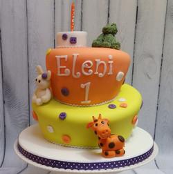 Fun Wonky 1st Birthday Cake