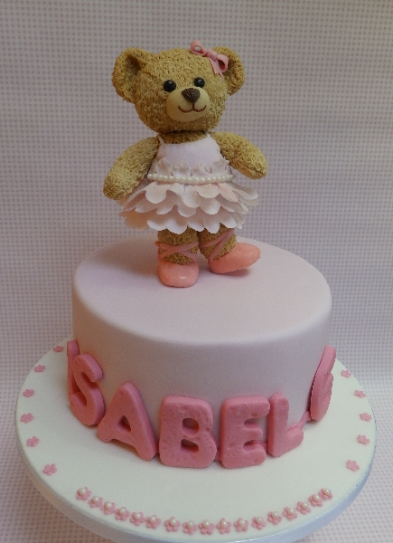Edible Bear Birthday Cake Topper